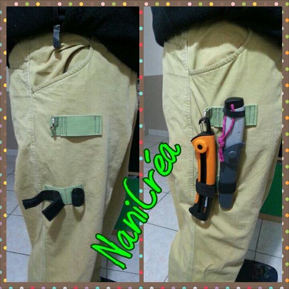Modification pantalon de rando pour crochet couteau et scie