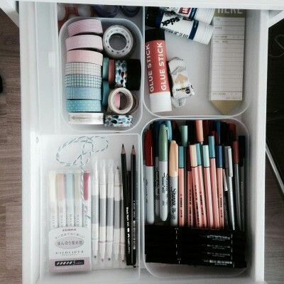 @container store?  get boxes to put things in in drawer to keep organized