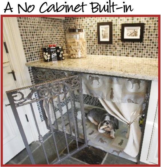 Under counter dog kennel