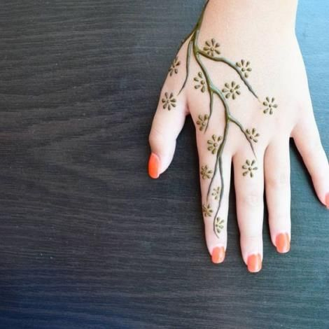 Easy Henna Tattoo Designs On Hand For Girl And Beginner 09012019 24 Mehndi Designs For Beginners Henna Tattoo Designs Simple Simple Henna Tattoo