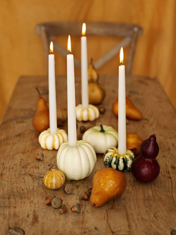 What a great idea for fall centerpiece use small