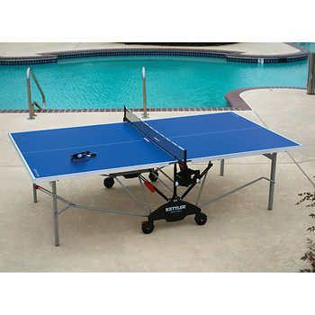 Costco Kettler Monte Carlo Outdoor Table Tennis Bundle Table Tennis Table Tennis Equipment Outdoor