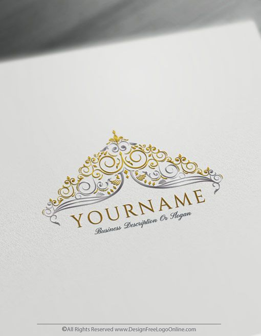 Create Royal Crown For Logo With The Vintage Logo Maker In 2020 Vintage Logo Maker Vintage Logo Design Vintage Logo