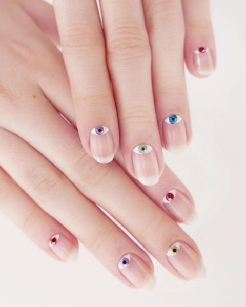 12 summer nail art ideas for a fun look: mini colored evil eyes