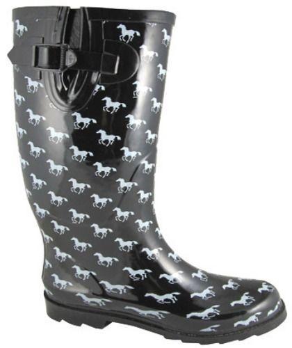 NEW** Ladies Size 5-11 Smoky Mountain Rain Boots Western Ponies ...