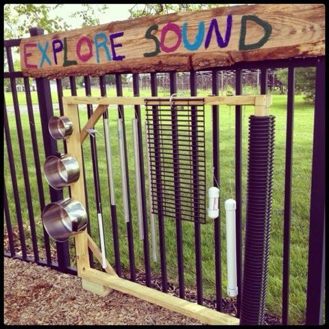 Outdoor Sound Exploration Station - This kindergarten teacher led her students in an inquiry project that resulted in this awesome outdoor sound exploration station for the playground! Science, math, reading, writing, research, planning, and 21st century skills are all involved, and the final result is fun for years to come. LOVE this!