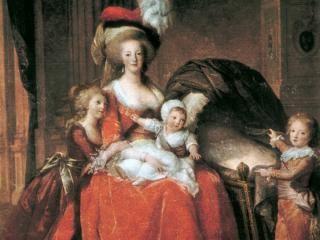 El cuadro de Louise Vigée-Lebrun muestra a Maria Antonieta con sus tres hijos