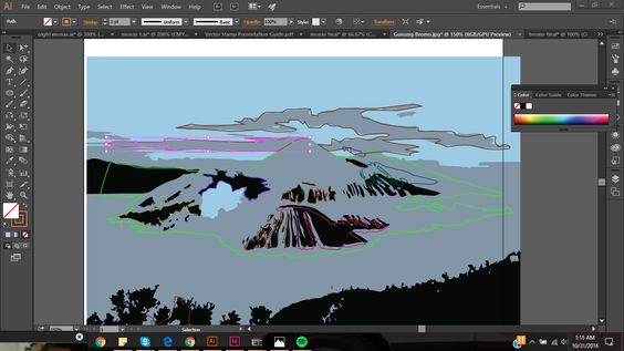 The process of Pen tool from an image.