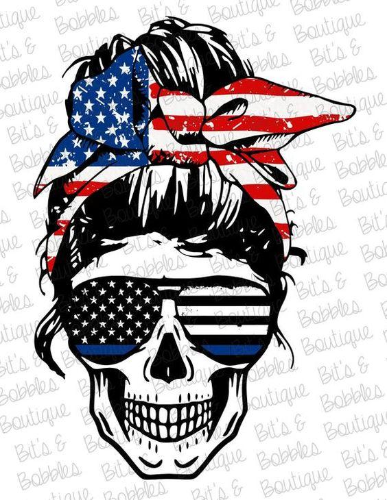 America Skull Sublimation Png Stars Flag Png Instant Etsy Blue Art Art Cricut Projects Vinyl