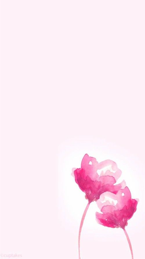 Pink Flower Wallpaper Iphone Pretty Pink Wallpaper Watercolor