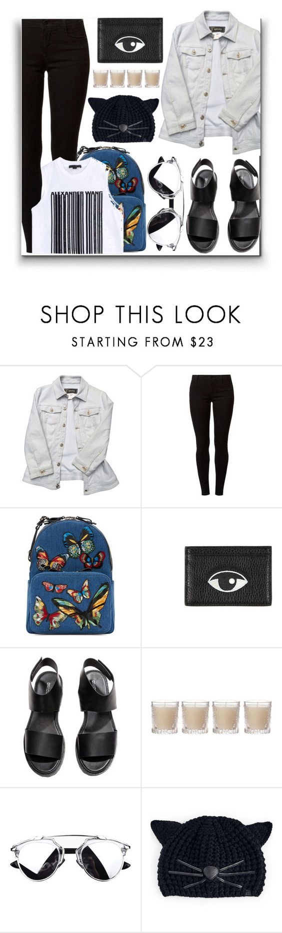 """""""Sin título #698"""" by teresapulido ❤ liked on Polyvore featuring Versace, Dorothy Perkins, Valentino, Kenzo, H&M, Shabby Chic, Karl Lagerfeld and Alexander Wang"""