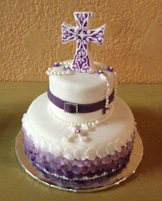 torte zweist ckig lila mit kreuz rosenkranz h bsch karin pinterest geburtstag kuchen und