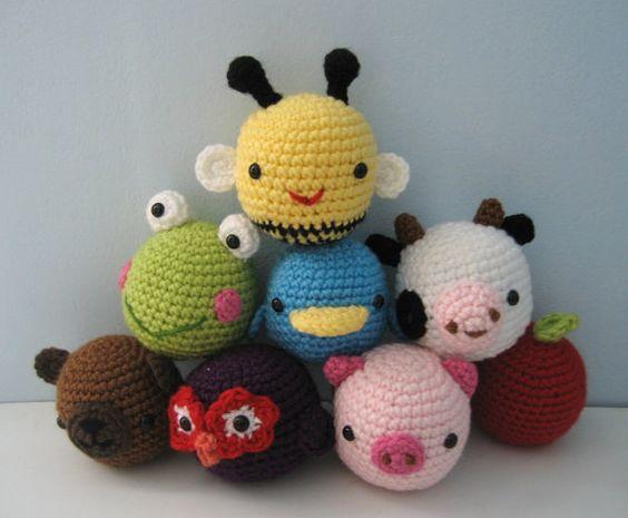 Amigurumi Parent And Baby Animals Free Download : Amigurumi Crochet Animal Toys for Baby Pattern Digital ...