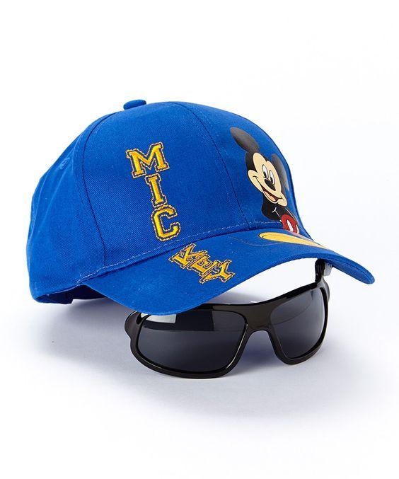 Royal Blue Mickey Baseball Hat & Sunglasses - Boys by Mickey Mouse #zulily #zulilyfinds