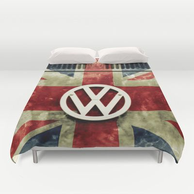 vw retro union jack duvet cover by alice gosling union. Black Bedroom Furniture Sets. Home Design Ideas