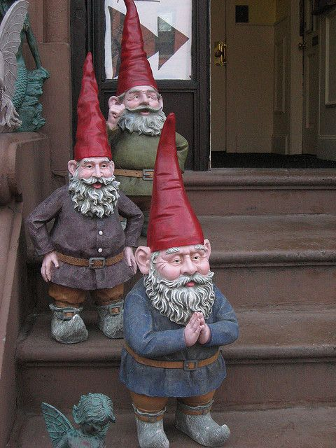 Gnome In Garden: Gnome Welcoming Committee, Hope Fairy Store, Boston