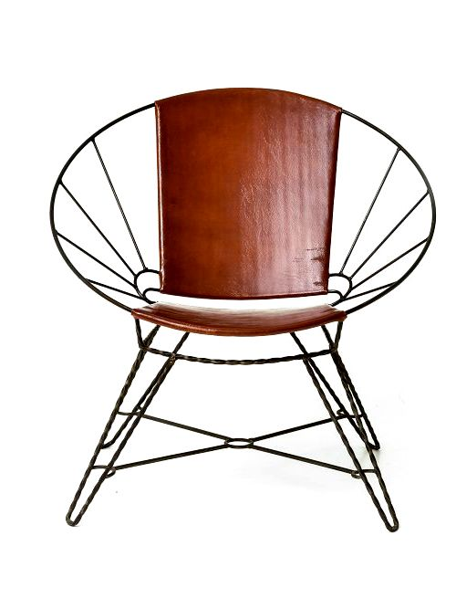 The Coolest Leather And Wire Chair Metal Chairs Go