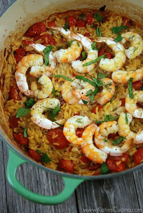 Shrimp and Orzo - Katie's Cucina | Katie's Cucina