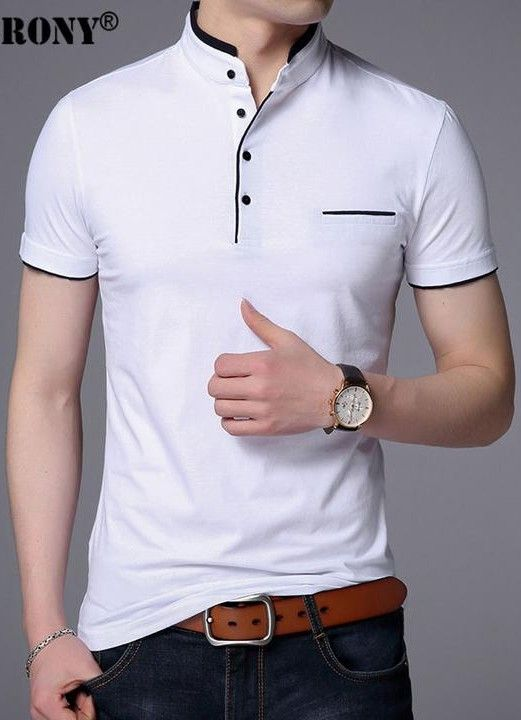 100/% Cotton Ideal for Summer Quality Mens Short Sleeve Grandad Collar Shirt