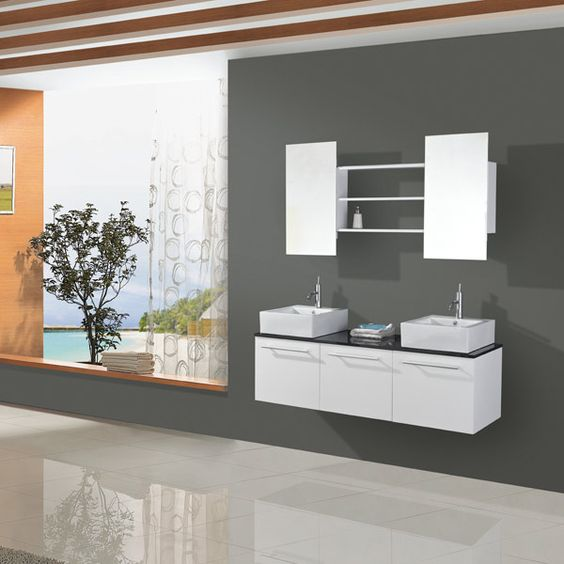 Ensemble salle de bain double vasque: De Bains, Room