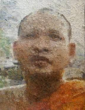 "Saatchi Art Artist Rachel Sharp; Painting, ""Buddhist Monk Series (3)"" #art"