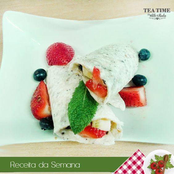 Receita de semana: Tortilha de Trigo com Frutas  #HealthyMenu #recipeoftheweek  https://goo.gl/OE3bTZ