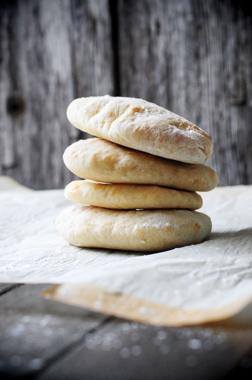 Homemade Pita Bread Pockets for the Bread Machine by @DineandDish