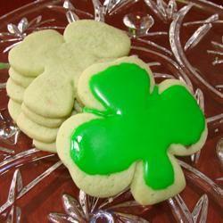 Irish Shamrock Cookies Allrecipes.com  ...instant pistachio pudding mix..  http://allrecipes.com/Recipe/Irish-Shamrock-Cookies/Detail.aspx