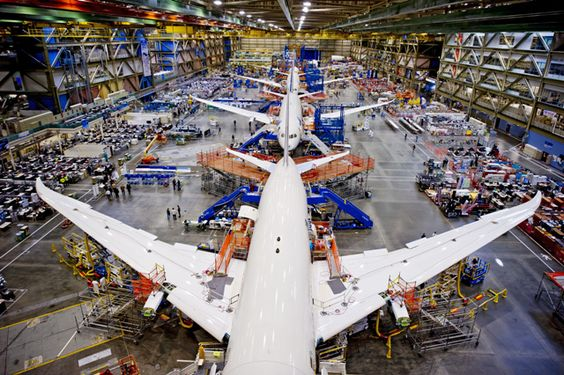 Seattle Everett - Boeing 787 Dreamliner Assembly Line