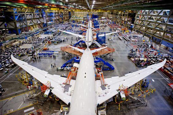 Seattle Everett - Boeing 787 Dreamliner Assembly Line