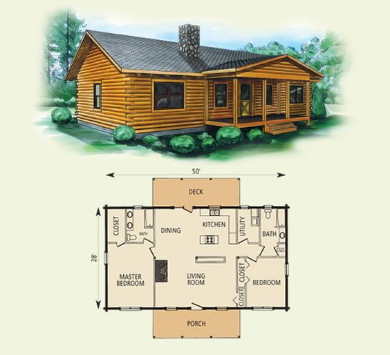 Best small log cabin plans taylor log home and log cabin for Best small house floor plans