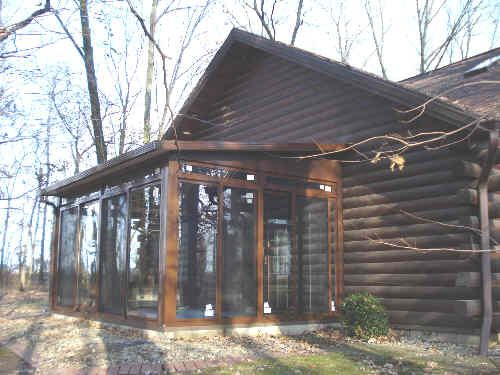 Pinterest the world s catalog of ideas for Log home sunrooms