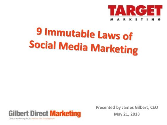 9 Immutable Laws of Social Media Marketing via SlideShare