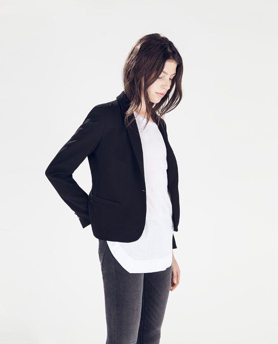 ZARA - SPECIAL PRICES - 绉绸休闲西装外套