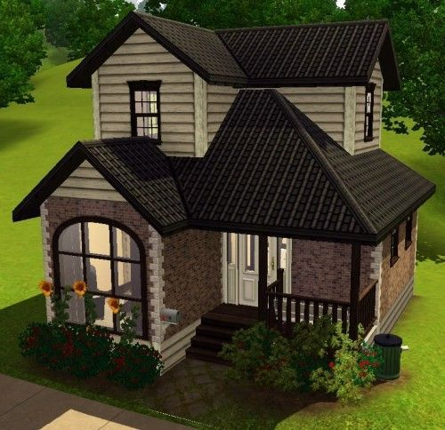 Spring4sims Small Two Story House By Everyone Sims Sims 4 House Plans Sims House Design Sims Building