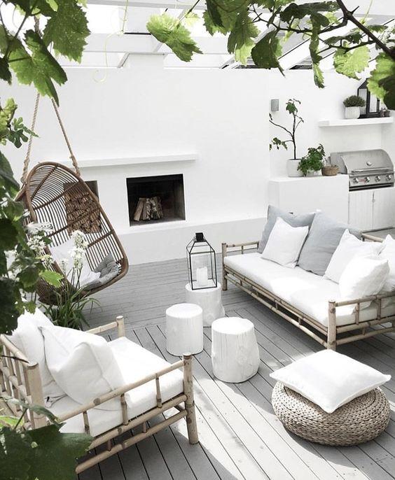 Hoy Vamos Con 15 Muebles Exclusivos De Exterior Realizados En Materiales Naturales Diseno De Terraza Muebles De Exterior Decoracion De Patio