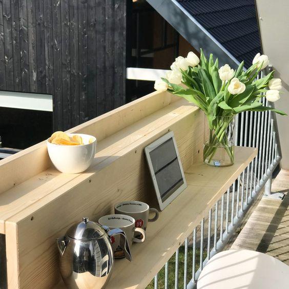 Balkontafel voor een klein balkon; zo hou je toch ruimte over