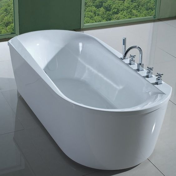 Freestanding Tub With Faucet Holes. Barclay Tubs Sausoleto 73  Overflow No faucet holes ATOVN73F WH Mohagen Tub Pinterest Faucets and Faucet