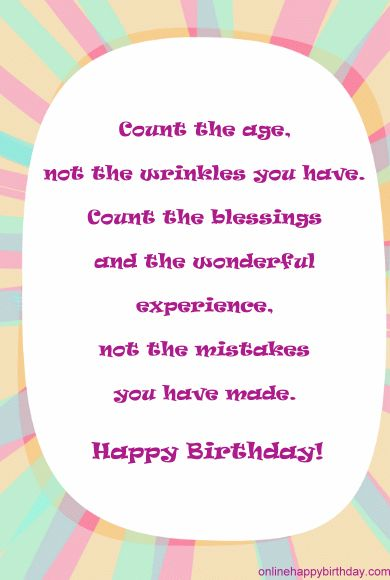 Happy birthday meaningful message e cards