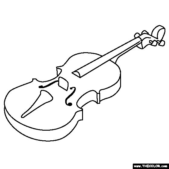 Coloring Pages Violin : Violin coloring page pinterest
