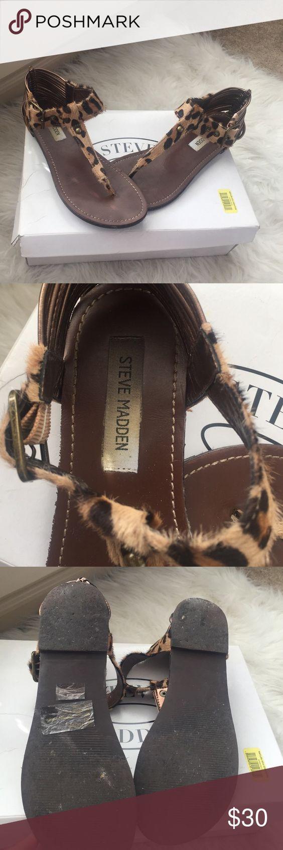 Leopard Print Sandals Cowhair sandals, cute for summer fun! Steve Madden Shoes Sandals