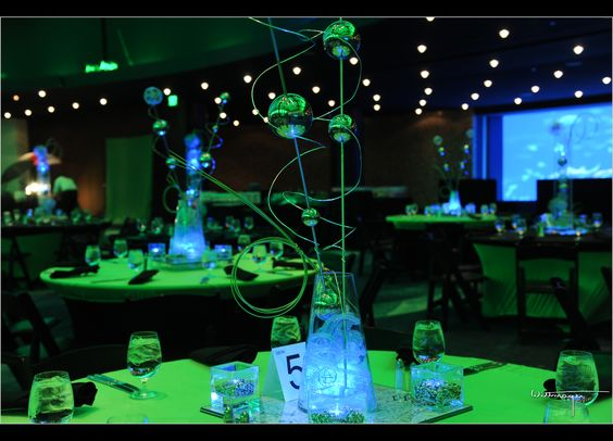 Glow earth day and lighting on pinterest for Glow in the dark centerpiece ideas
