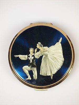 Vintage Stratton Dark Blue Ballet Series Compact