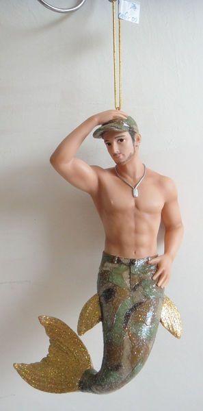 December Diamonds Camo Military Merman Christmas Ornament 5590777 Gay Soldier