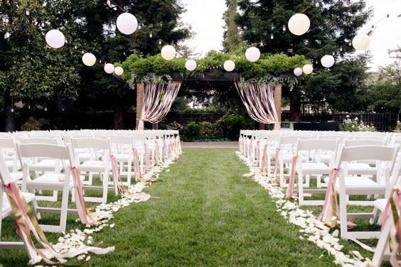 paper lanterns ribbons wedding - Buscar con Google