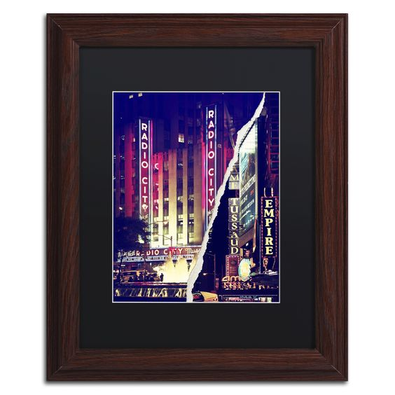 Times Square Theater District by Philippe Hugonnard Framed Photographic Print