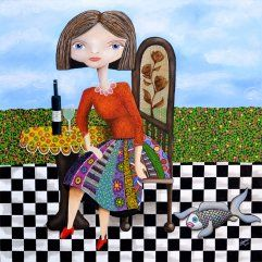 Plenty of fish in the Sea! Colourful Art, painting, inspiration
