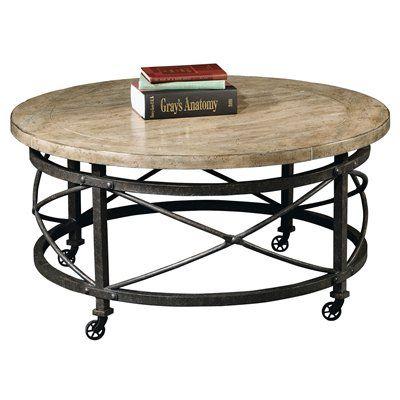 Hekman 1 1701 Urban Loft Round Mobile Coffee Table