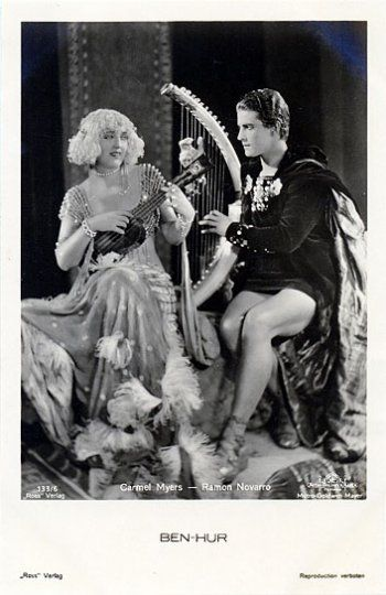 Portrait of Carmel Myers and Ramon Novarro for Ben-Hur: A Tale of the Christ…