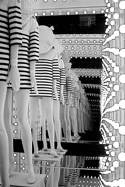 Moncler Flagship Store SoHo window display, New York City by NYC, via Flickr.